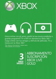 ABBONAMENTO XBOX LIVE GOLD